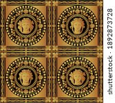 seamless ancient roman baroque... | Shutterstock .eps vector #1892873728