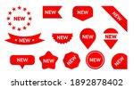 sticker tag new ribbon icon... | Shutterstock .eps vector #1892878402