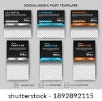 set of editable square banner... | Shutterstock .eps vector #1892892115