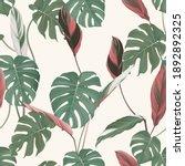 foliage seamless pattern  split ... | Shutterstock .eps vector #1892892325