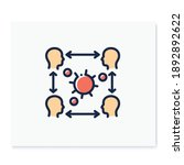 infection cycle color icon....   Shutterstock .eps vector #1892892622