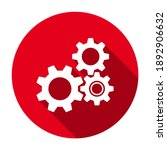 red flat round gear wheels icon ...   Shutterstock .eps vector #1892906632