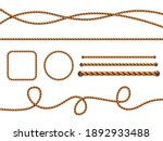 realistic ropes. yellow or... | Shutterstock . vector #1892933488