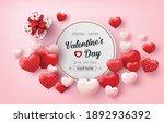 happy valentine's day sale...   Shutterstock .eps vector #1892936392