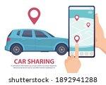 car sharing. rent car online...   Shutterstock . vector #1892941288