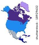 vector map of north america | Shutterstock .eps vector #18929632