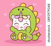 cute unicorn vector wear... | Shutterstock .eps vector #1892979268