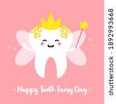 happy tooth fairy day vector...   Shutterstock .eps vector #1892993668