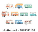 camper trailers and vans icon... | Shutterstock .eps vector #1893000118