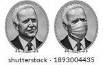 engraving portrait of joe biden....   Shutterstock .eps vector #1893004435