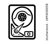 hdd line icon  outline vector... | Shutterstock .eps vector #1893030058