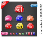 buy one get one free ...   Shutterstock .eps vector #189303836
