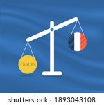 currency round yellow gold on... | Shutterstock .eps vector #1893043108
