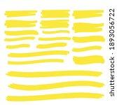 yellow highlighter marker... | Shutterstock .eps vector #1893056722