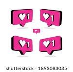 heart in speech bubble icon.... | Shutterstock .eps vector #1893083035