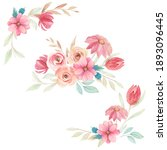 watercolor floral template for... | Shutterstock . vector #1893096445