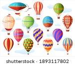 set of hot air balloons ...   Shutterstock .eps vector #1893117802
