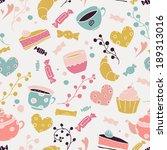 pastries  sweet l tea | Shutterstock .eps vector #189313016