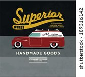 retro car apparel design.... | Shutterstock .eps vector #189316142
