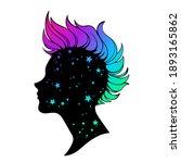 silhouette of a female head... | Shutterstock .eps vector #1893165862