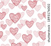seamless love pattern with...   Shutterstock .eps vector #1893176002