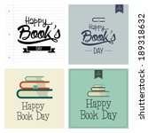 abstract happy book day on a... | Shutterstock .eps vector #189318632