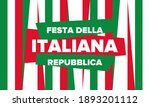 Festa Della Repubblica Italiana....