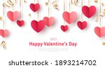 happy saint valentine's day... | Shutterstock .eps vector #1893214702
