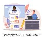 female character is providing... | Shutterstock .eps vector #1893238528
