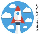 rocket and clouds. start up new ... | Shutterstock .eps vector #189325052
