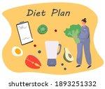 nutrition diet plan.... | Shutterstock .eps vector #1893251332