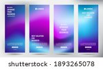 set of blurred purple roll up... | Shutterstock .eps vector #1893265078