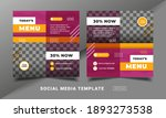 flyer or social media post... | Shutterstock .eps vector #1893273538