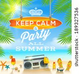 summer holidays greeting design ... | Shutterstock .eps vector #189327536