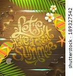 summer holidays vector... | Shutterstock .eps vector #189327542
