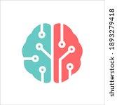brain tech abstract logo design  | Shutterstock .eps vector #1893279418