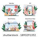 meat production industry online ... | Shutterstock .eps vector #1893291352