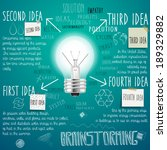 brainstorming background with... | Shutterstock .eps vector #189329882
