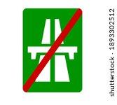 end of motorway  traffic sign ... | Shutterstock .eps vector #1893302512