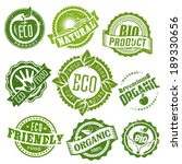 eco green stamp labels set of... | Shutterstock .eps vector #189330656