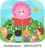 illustration of kids listening... | Shutterstock .eps vector #1893322075