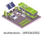 isometric eco transport ... | Shutterstock .eps vector #1893363502