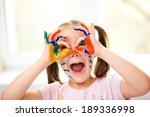 portrait of a cute cheerful... | Shutterstock . vector #189336998