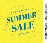 summer sale banner template... | Shutterstock .eps vector #1893382828