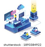 the concept of isometric flat... | Shutterstock .eps vector #1893384922