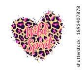 wild spirit leopard heart shape ... | Shutterstock .eps vector #1893407878