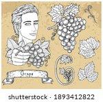 design set with handsome man...   Shutterstock .eps vector #1893412822