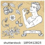 design set with handsome man...   Shutterstock .eps vector #1893412825