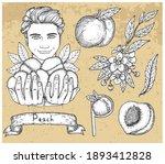 design set with handsome man...   Shutterstock .eps vector #1893412828