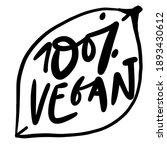 100  vegan. illustration... | Shutterstock .eps vector #1893430612